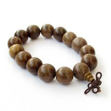 14mm Chicken-Wing Wenge Wood Beads Tibet Buddhist Prayer Bracelet Mala