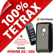 Tetrax Xcase per iPhone Apple 3G / 3GS Protettivo Integrato Clip Custodia Nera