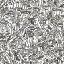 1000Pcs silver-tone 2.5mm crimps tube findings beads h0283