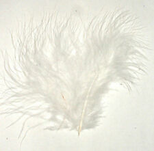 "Feathers Fluffy WHITE  Marabou 3-8"" 7 gram bag Aprox 35"