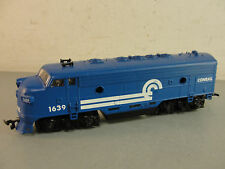HO SCALE TRAIN DIESEL LOCOMOTIVE ENGINE CONRAIL #1639 BLUE 34697 PARTS REPAIRS