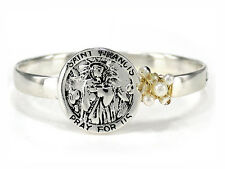 4031440 St Francis Prayer of Assisi Bangle Bracelet Instrument of Peace Saint