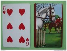 carte à jouer ancienne de collection : cheval