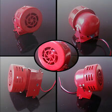 12V Motor Driven Air Raid Siren Red Horn Sound Fire Security Rescue For Benelli