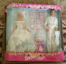 G Barbie and Ken Wedding Fantasy Bridal Giftset Mattel 17243 damaged box