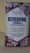 RESERVEAGE ORGANICS RESVERATROL THE WORLDS FINEST 250 MG (60 VEGGIE CAPS TOTAL)