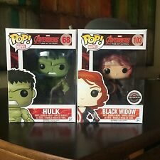 Funko Pop 103 68 Avengers Hulk Black Widow Gamestop Exclusive Vinyl Figures