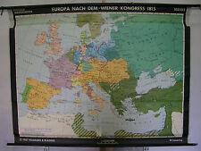 Schulwandkarte Wandkarte Schulkarte Rollkarte Europa Wien 1815 Kongress 195x149c