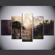 Star Wars ATAT,oil painting HD Print on Canvas Art Deco 5PC Unframed