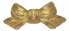 Douglas Paquette Belt Buckle Goldtone Bow 4 by 1.5 Inches Retired Very Good