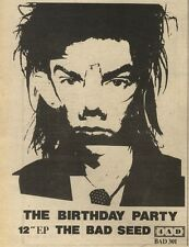 12/2/83PN12 ADVERT: THE BIRTHDAY PARTY SINGLE THE BAD SEED 7X5