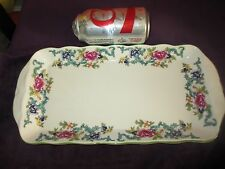 Royal Doulton FLORADORA GREEN Large SANDWICH TRAY Platter Plate