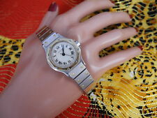 Cartier  Santos Watch Solid 18K Gold Bezel Women's Cartier WATCH Beautiful Watch