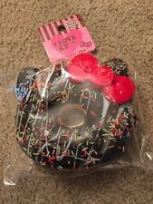 SANRIO HELLO KITTY SQUISHY BIG CHOCOLATE SPRINKLE DONUT BALL CHAIN NIP