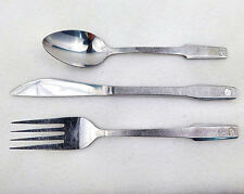 """""""EASTERN AIRLINES""""  KNIFE, FORK & SPOON Match  set  of  STAINLESS STEEL FLATWARE"""