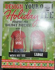 Crazy Christmas TEE T-Shirt, Design Your Own Decorate Yourself KIT LRG TREE