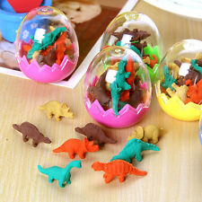 8X Dinosaurs Egg Pencil Rubber Eraser Students Office Stationery Kid Toy LovelyG