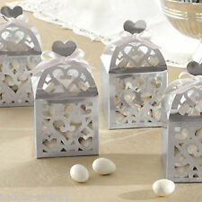 50 Elegant Silver Lantern Wedding Engagement Party Gift Favour Boxes