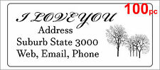 100 Personalised return address label custom mailing sticker 56x25mm trees