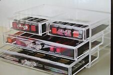 -4 DRAWER CLEAR ACRYLIC COSMETIC DISPLAY  VANITY TABLE MAKE UP ORGANIZER BOX NEW