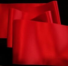 "4"" WIDE SWISS DOUBLE FACE SATIN RIBBON - TRUE RED"