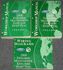 2008 Ford Explorer Mercury Mountaineer Sport Trac Service Manual Set