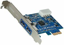 Belkin SuperSpeed USB 3.0 PCI Express Add-In Card  F4U023cw Windows 7/XP/Vista