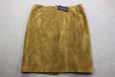RALPH LAUREN BLUE LABEL Womens BROWN 100% LEATHER SKIRT NWT Sz 12 Waist 32  $798