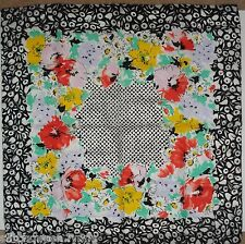 NOS Avon Fancy Florals Square Scarf, NEW in Original Package, 1989