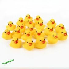 20 Pcs Yellow Bathtime Rubber Duck Baby Bath Kid's Toy Squeaky Water Play Fun