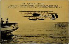 Cartolina Aviazione - Idroplano In Volo M. Farman - Non Viaggiata
