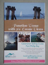 Bayplay Catamaran Sailing Cruise Port Phillip Bay Brochure Postcard