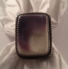 "Vintage Native American Navajo ""Bright Star"" Sterling Silver Sugilite Ring Sz 11"