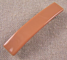 "SMALL Hair BARRETTE 2.5"" 65mm Terra Cotta Tan Brown Opaque Fused Stained Glass"