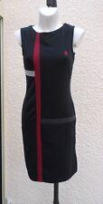 Robe Noire Gris Rouge Foncé Sans Manches Desigual Taille S