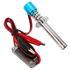 Blue Upgraded 6V-24V Electronic Glow Plug Starter Igniter for Nitro RC Car