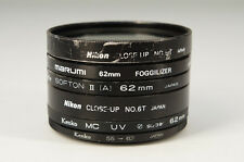 WHOLESALE! CAMERA FILTER SET Soft/Up/UV Kenko/Nikon etc Free Shipping 653k31