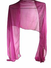 KITARA WOMEN'S SILKY OMBRE CHIFFON FASHION WRAP,CHERRY, ONE SIZE, NEW