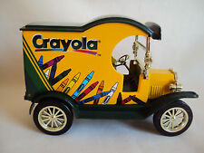 VINTAGE GEARBOX TOY CRAYOLA 1912 FORD DELIVERY CAR DIECAST BANK WITH KEY