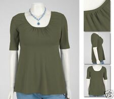 NEW Zaftique SWEET MAIDEN TOP Olive Green 3Z 5Z / 24 32 / 3X 5X