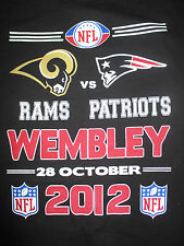 NEW ENGLAND PATRIOTS vs ST LOUIS RAMS Wembley Stadium Oct 28 2012 (2XL) T-Shirt