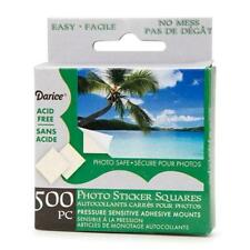 "Darice 500-pc PHOTO SQUARES Adhesive Tabs 3/8"" ACID FREE Archival Quality"