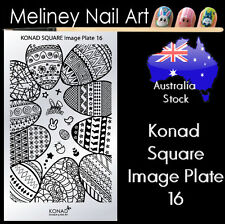 Konad Square Image Plate 16 for Stamping Nail Art Transfer Stencils Easter Eggs