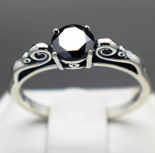 .64cts 5.67mm Natural Black Diamond Ring, Certified, AAA Grade & $500 Retail