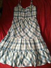 WOMENS AMERICAN EAGLE PLAID PRINT DRESS SZ 4