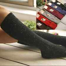 5Pairs Women 90%Wool Cashmere Knee-High Thick Warm Girl turnup Design Boot Socks