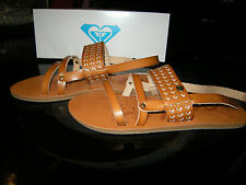 Brand New Womens Tan Brown Roxy Elias Sandals, Size 7 M