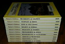 Getting to Know Nature's Children Lot of 10 HC Grolier 2 in 1 20 Animals