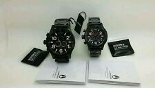 NEW NIXON 51-30 42-20 Chrono ALL BLACK His and Hers Watch Set A083-001 A037-001