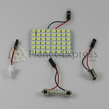 Panel 48 LED SMD 5050 C5W Festoon T10 W5W BA9S. Maletero, Interior, Blanco Xenon
